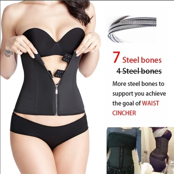 2fd0773a9a2 Rubber Latex Waist Trainer with Hooks and Zipper